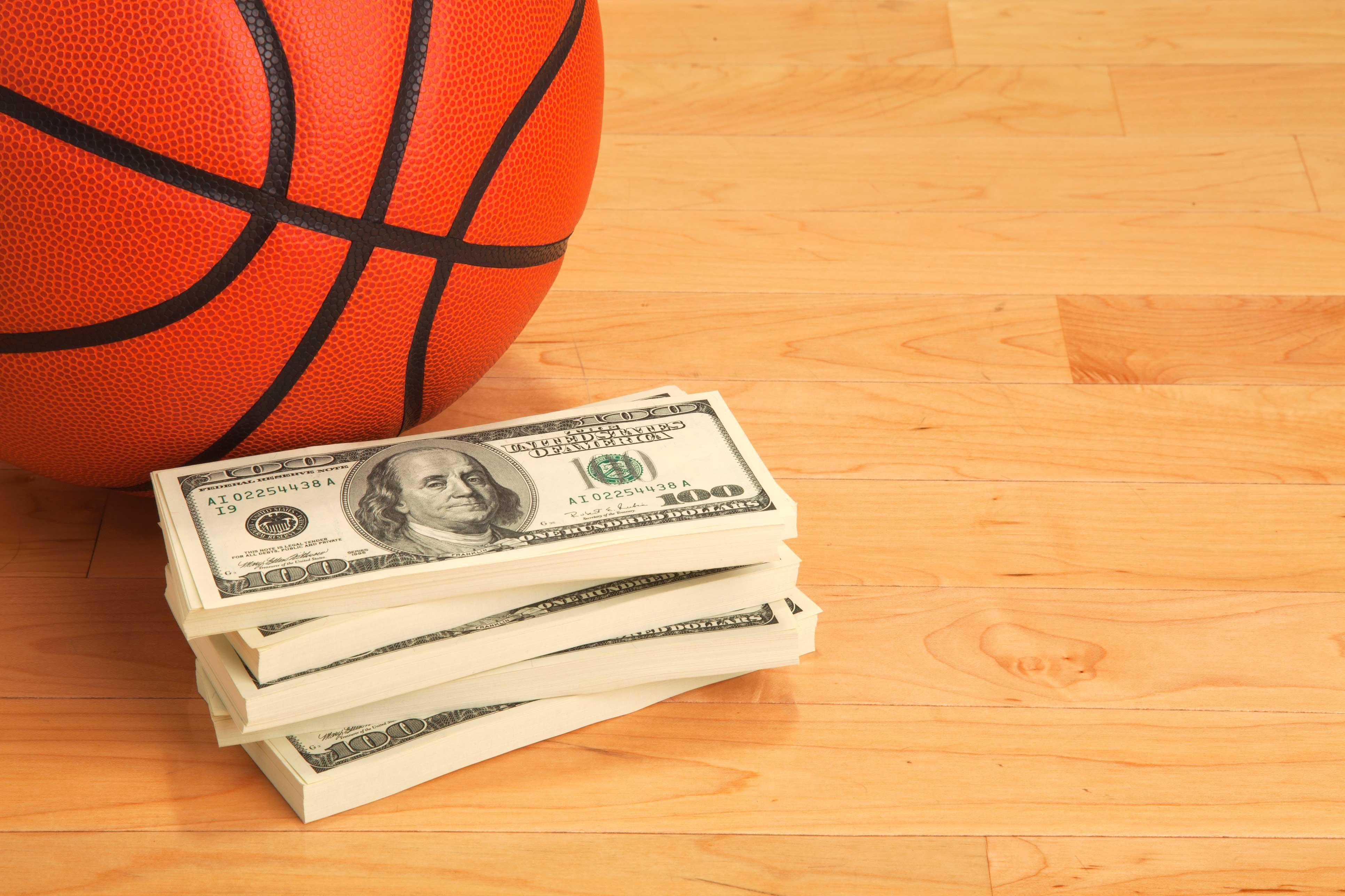 basquete dinheiro