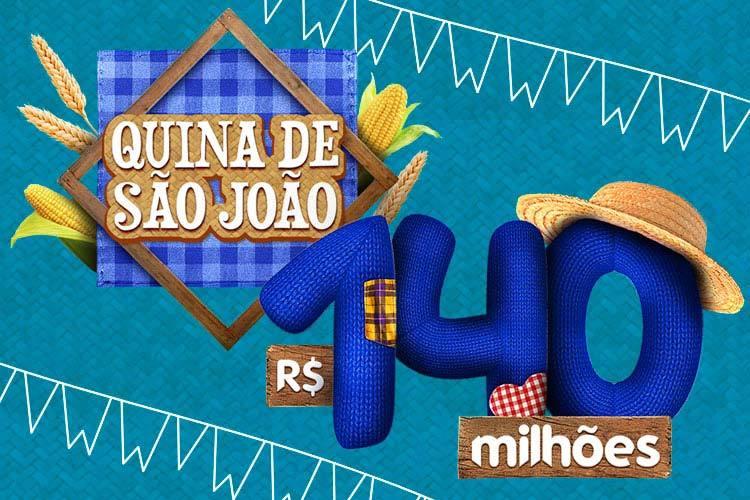 Sorte Online distribuiu 70 prêmios na Quina de São João